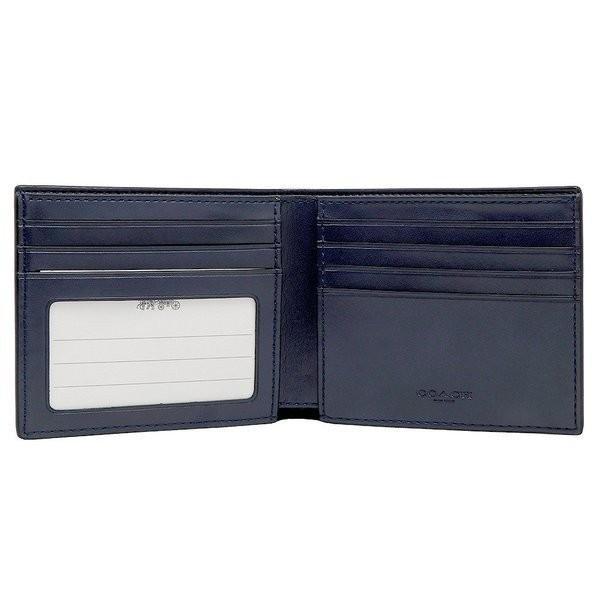 コーチ COACH メンズ 二つ折り財布 カードケース シグネチャー レザー 66551QBDEN アウトレット コーチギフトボックス付き|worlddrive|04