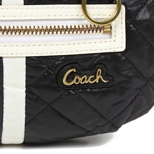 コーチ バッグ ショルダー アウトレット バッグ coach  POPPY ポピー  黒×白 キルティング|worlddrive|02