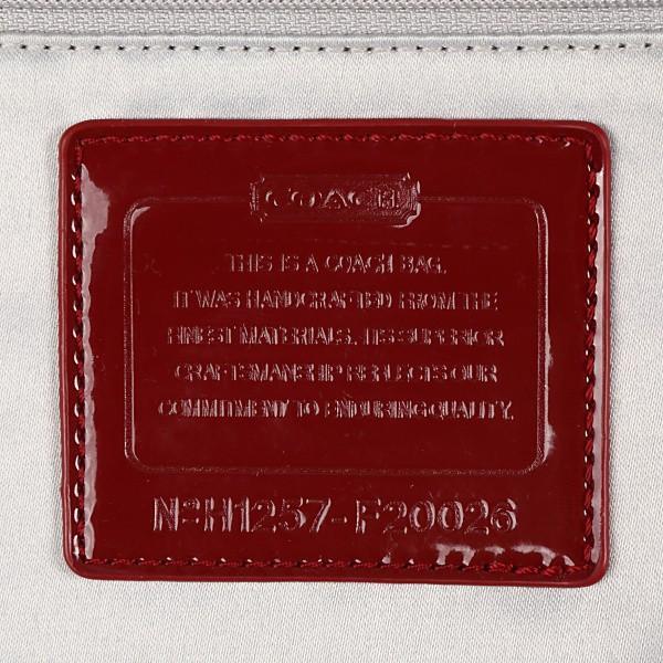 コーチバッグ アウトレット COACH ポピー POPPY シグネチャー トート バッグ 20026 カーキ×レッド|worlddrive|05