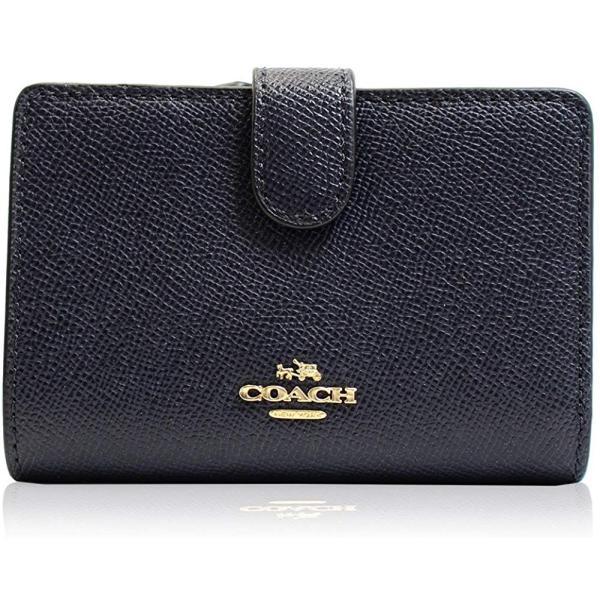 COACH コーチ 財布 二つ折り財布 レザー レディース f11484immid 新品 ギフトボックス付き|worlddrive