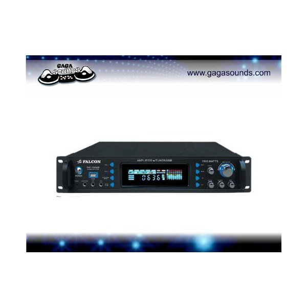 FALCON PMP-1505USB 1500W パワーアンプ Amp Am/Fm チューナー、USB/SD Card Reader