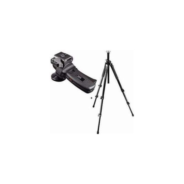 Manfrotto 055XPROB Black Tripod Kit with 322RC2 Grip Action Ball Quick Release Head & Manfortto M