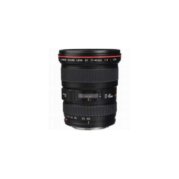 Canon EF 17-40mm f/4L USM Ultra Wide Angle Zoom Lens with Case and Lens Hood - USA