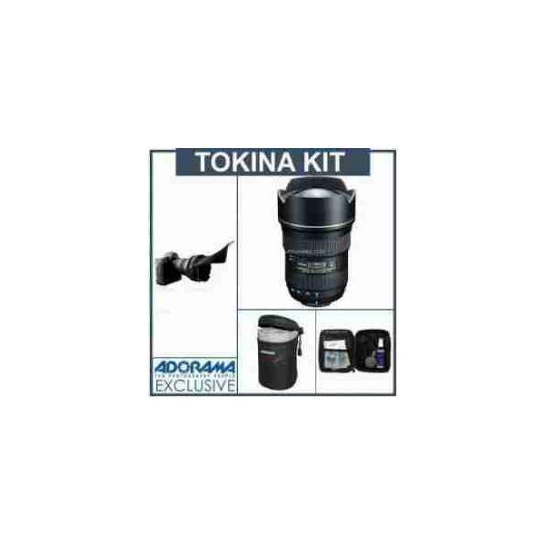 Tokina 16-28MM F/2.8 ATX Pro FX Zoom Lens For Canon EOS Digital SLR Cameras - Bundle - with Flex