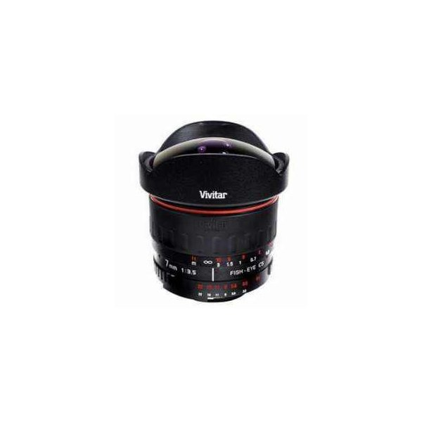 "Vivitar 7mm F/3.5 Fish Eye Lens for Pentax, 7mm(0.27"") Focal Length, 1(0.30m) Min Focus Distance"