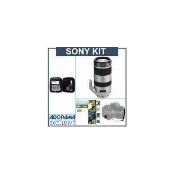 Sony 70-400mm f/4-5.6 G SSM Telephoto Zoom Lens kIt, with Tiffen 77mm Photo Essentials Filter Kit