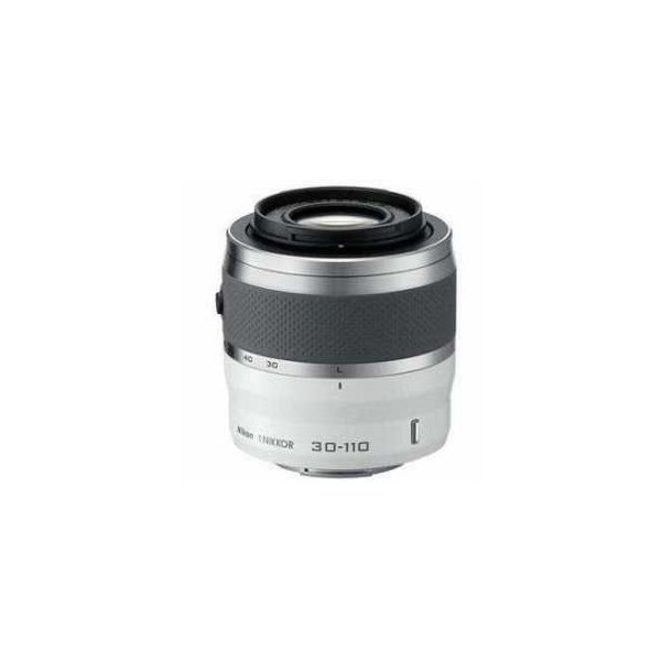 Nikon 1 Nikkor 30-110mm f/3.8-5.6 VR Lens for Mirrorless Camera System - White - Refurbished by N