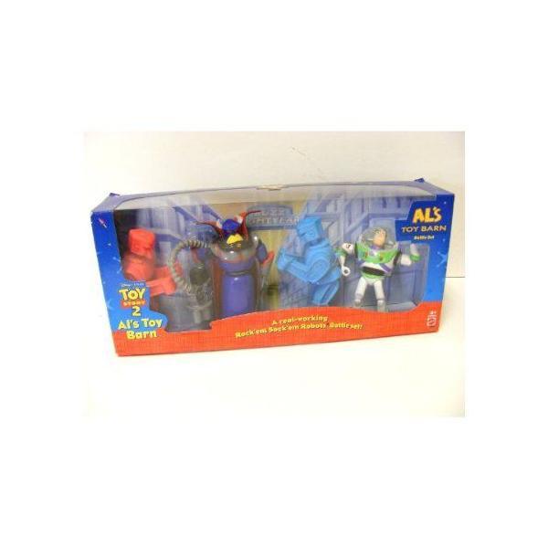 ディズニー トイストーリー 2 ALs Toy Barn Battle セット ROCK'EM SOCK'EM ロボットs バズ ライトイヤー