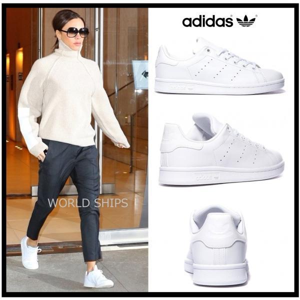 アディダス スタンスミス レディース ビクトリア ベッカム愛用 アディダス スニーカー メンズ adidas Originals StanSmith オールホワイト 海外正規品|worldships