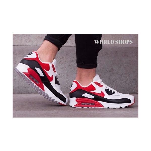エアマックス 90 エッセンシャル ナイキ スニーカー Nike Air Max 90 Essential ウルフグレー/ユニバーシティーレッド【海外限定・正規品】|worldships|02