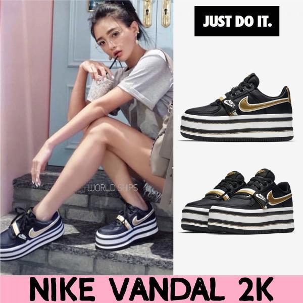 注目!厚底スタイル! バンダル 2K ナイキ スニーカー Nike Vandal 2K ブラック 海外正規品|worldships