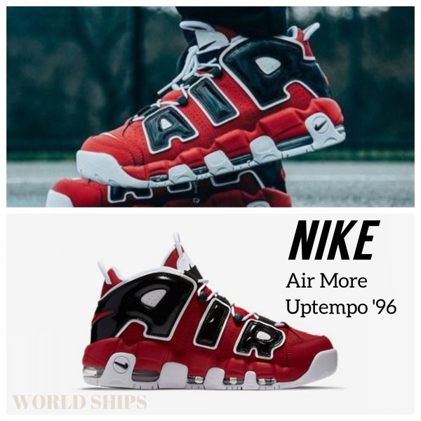 エア モア アップテンポ 96 ナイキ スニーカー Nike Air More Uptempo '96 レッド/ブラック【海外正規品】 worldships
