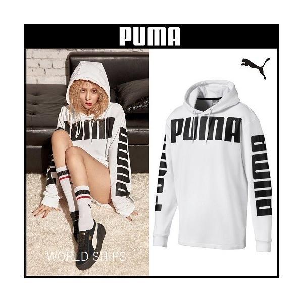 NEW! プーマ レディース メンズ パーカー フーディー PUMA Rebel Hoody TR ホワイト 【 ヒョナ 着用モデル 】|worldships