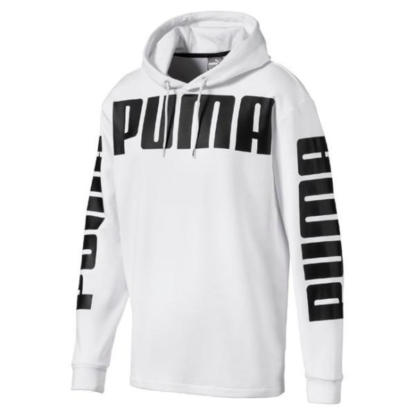 NEW! プーマ レディース メンズ パーカー フーディー PUMA Rebel Hoody TR ホワイト 【 ヒョナ 着用モデル 】|worldships|02