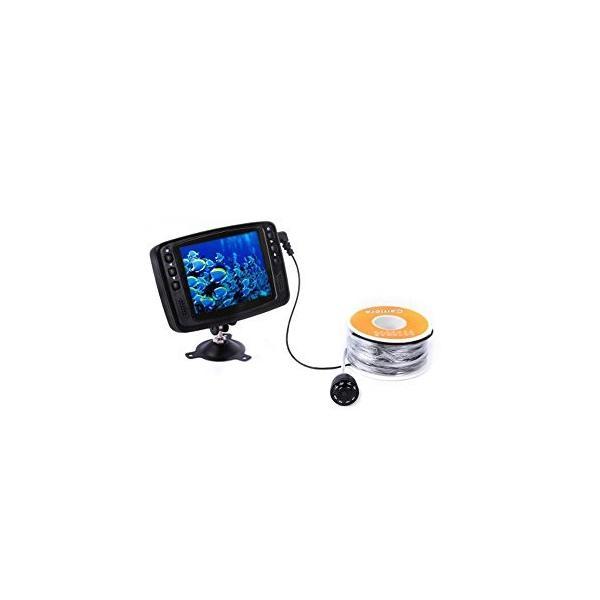 """800TVL 3.5"""" Color LCDモニター 釣り用 水中カメラ フィッシュファインダー 8*赤外線LED  15M / 30M"""