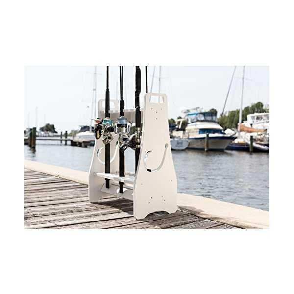 Fishing Rod Rack - Hook Design - Store and Organize up to 18 Fishing Poles and Reels