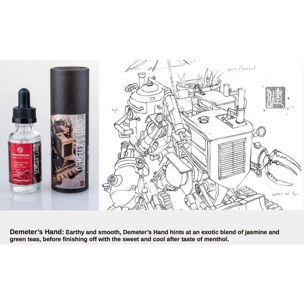 VAPE リキッド 電子タバコ Steamworks Demeter's Hand スチームワークス ディメーターズハンド ジャスミン&グリーンティー 30ml ベイプ 電子たばこ|worldvapeshop|04