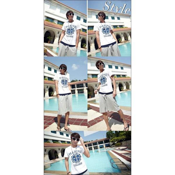 スウェット上下 メンズ レディース 夏 夏物 ペアルック Tシャツ ハーフパンツ セットアップ ジャージ上下 スポーツウェア ルームウェア 部屋着 可愛い F-228 woyoj 04