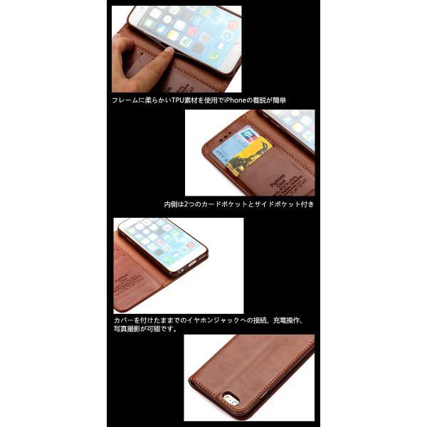 iphone7 ケース 手帳型 レザー iphone8  iphone6s ケース アイホン6s アイフォン7 アイフォン8 ケース 手帳型 iPhoneX iPhone7 PLUS ケース スマホケース L-124|woyoj|04