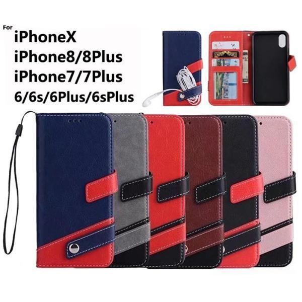 iPhone8 ケース iPhone7 iPhone6s ケース 手帳型 おしゃれ スマホケース イヤホン収納 iPhoneX XS iPhone6Plus 7Plus 8Plus アイフォン8  L-178|woyoj