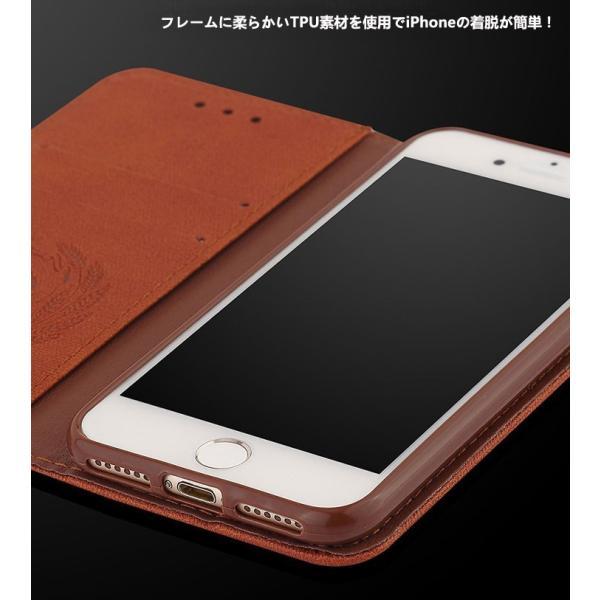 iPhone8 ケース iPhone7 カバー スマホケース アイフォン7ケース 手帳 アイフォン8ケース 手帳型 アイホン8 アイホン7 ケース レザー カード収納 手帳型 L-185-3|woyoj|04
