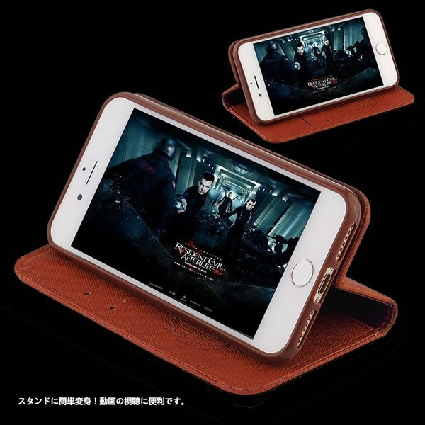 iPhone8 ケース iPhone7 カバー スマホケース アイフォン7ケース 手帳 アイフォン8ケース 手帳型 アイホン8 アイホン7 ケース レザー カード収納 手帳型 L-185-3|woyoj|07