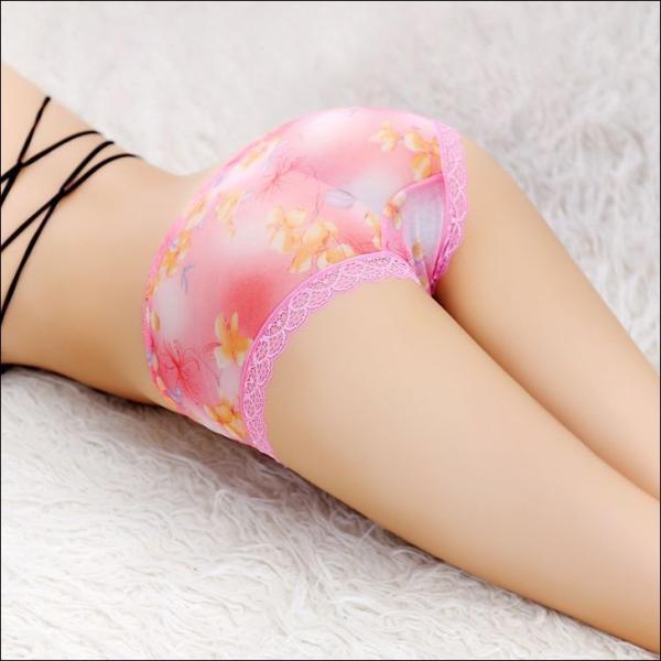 ショーツ レディース 響きにくい ショーツ ヒップハング シースルー 花柄 刺繍 プレーンショーツ レディースショーツ 下着 ランジェリー T-1364|woyoj|06