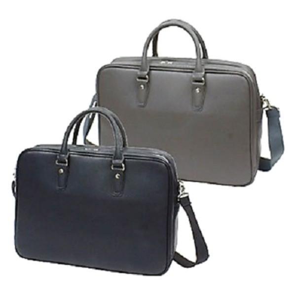 防水撥水加工合成皮革・ ビジネスバッグ ブリーフケース B4サイズ対応 ダブルマチ ブラック