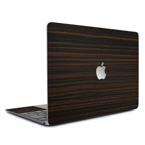 Macbook Air 11インチ スキンシール ケース カバー ステッカー フィルム wraplus 選べる31色 エボニー