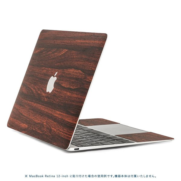 Macbook Air 13インチ スキンシール ケース カバー ステッカー フィルム wraplus 選べる31色 ローズウッド|wraplus|03