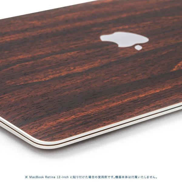 Macbook Air 13インチ スキンシール ケース カバー ステッカー フィルム wraplus 選べる31色 ローズウッド|wraplus|04