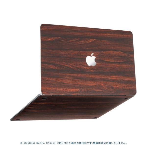 Macbook Air 13インチ スキンシール ケース カバー ステッカー フィルム wraplus 選べる31色 ローズウッド|wraplus|05