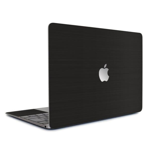 Macbook Air 13インチ スキンシール ケース カバー ステッカー フィルム wraplus 選べる31色 ブラックブラッシュメタル|wraplus