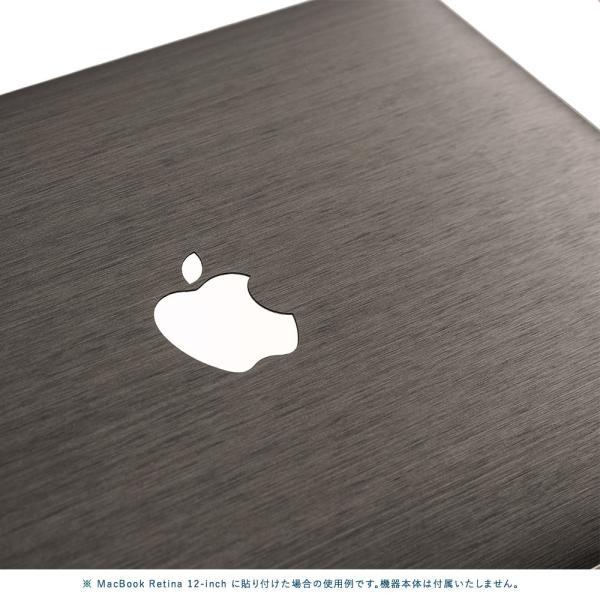 Macbook Air 13インチ スキンシール ケース カバー ステッカー フィルム wraplus 選べる31色 ブラックブラッシュメタル|wraplus|04