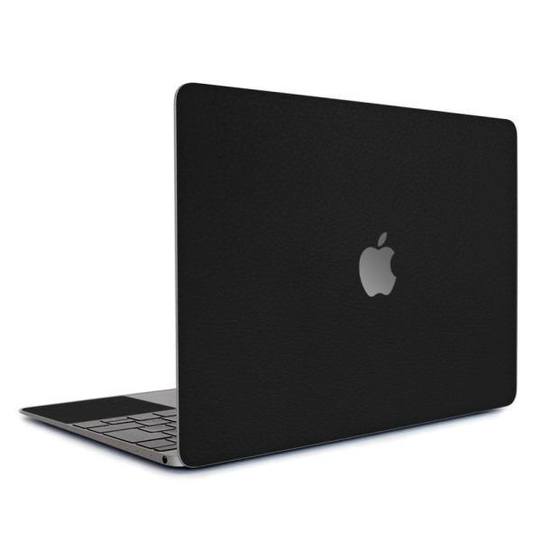 Macbook Air 13インチ スキンシール ケース カバー ステッカー フィルム wraplus 選べる31色 ブラックレザー|wraplus