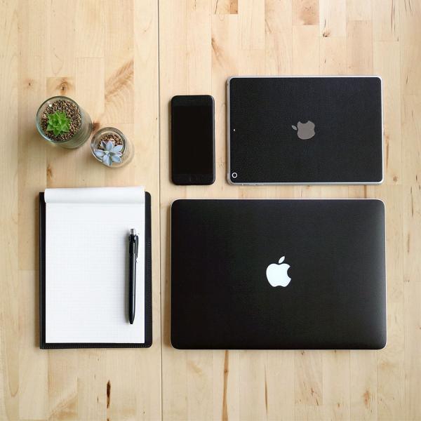 Macbook Air 13インチ スキンシール ケース カバー ステッカー フィルム wraplus 選べる31色 ブラックレザー|wraplus|02