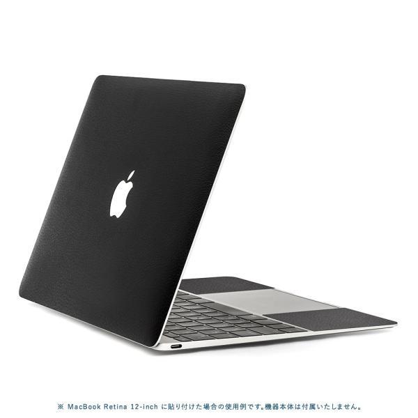 Macbook Air 13インチ スキンシール ケース カバー ステッカー フィルム wraplus 選べる31色 ブラックレザー|wraplus|03