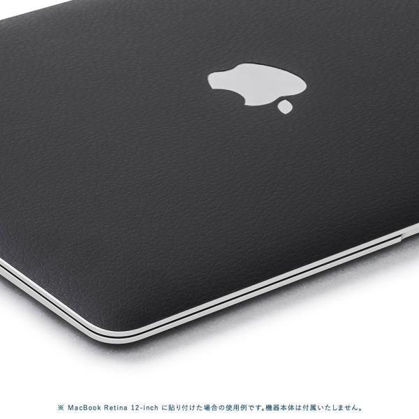 Macbook Air 13インチ スキンシール ケース カバー ステッカー フィルム wraplus 選べる31色 ブラックレザー|wraplus|04