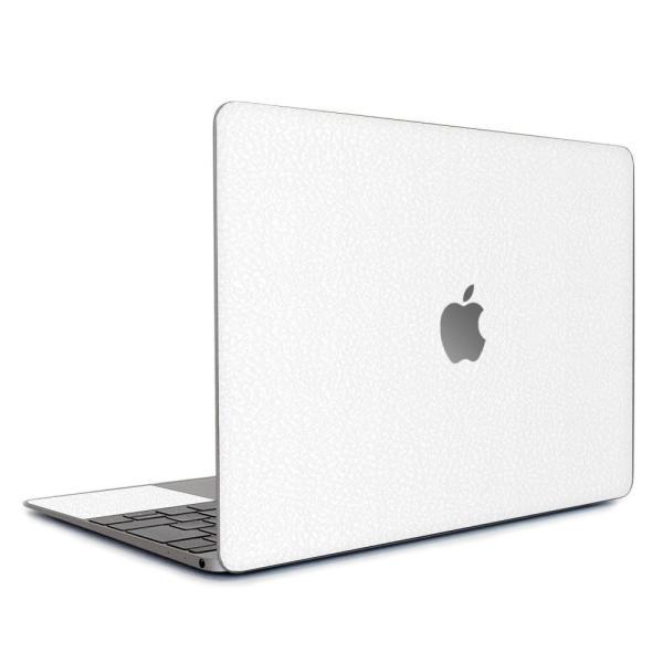 Macbook Air 13インチ スキンシール ケース カバー ステッカー フィルム wraplus 選べる31色 ホワイトレザー|wraplus