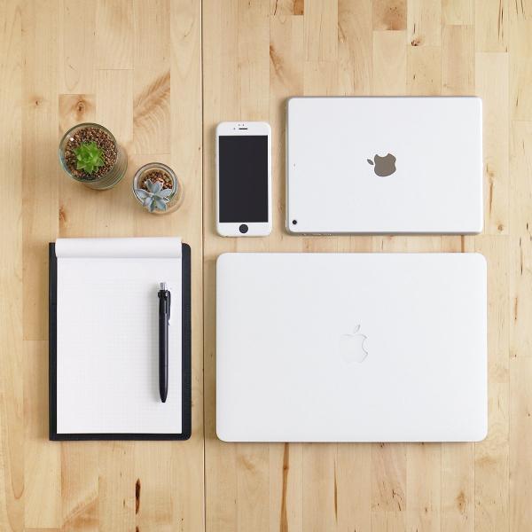 Macbook Air 13インチ スキンシール ケース カバー ステッカー フィルム wraplus 選べる31色 ホワイトレザー|wraplus|02
