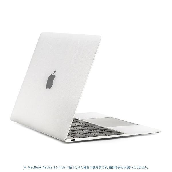 Macbook Air 13インチ スキンシール ケース カバー ステッカー フィルム wraplus 選べる31色 ホワイトレザー|wraplus|03