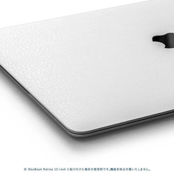 Macbook Air 13インチ スキンシール ケース カバー ステッカー フィルム wraplus 選べる31色 ホワイトレザー|wraplus|04
