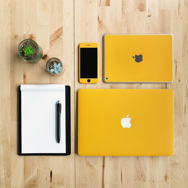 Macbook Pro 13インチ スキンシール ケース カバー フィルム 2016 Retina 対応 wraplus 選べる31色 イエロー 黄色|wraplus|02