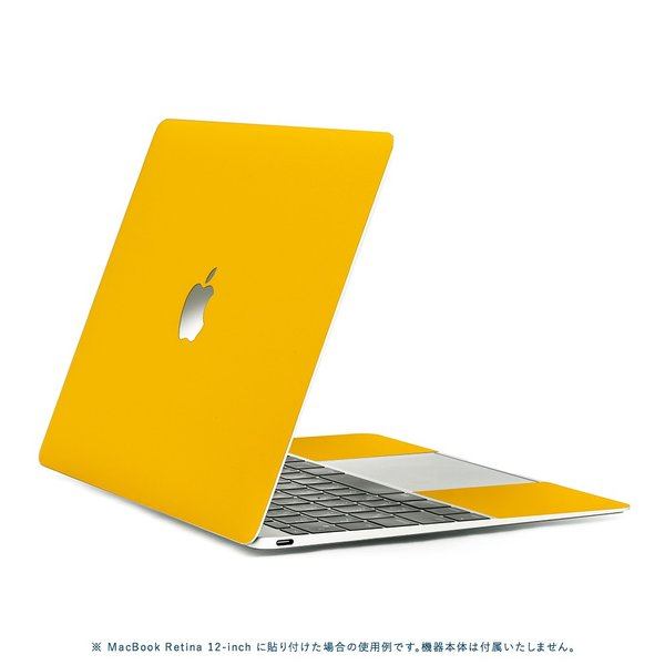 Macbook Pro 13インチ スキンシール ケース カバー フィルム 2016 Retina 対応 wraplus 選べる31色 イエロー 黄色|wraplus|03