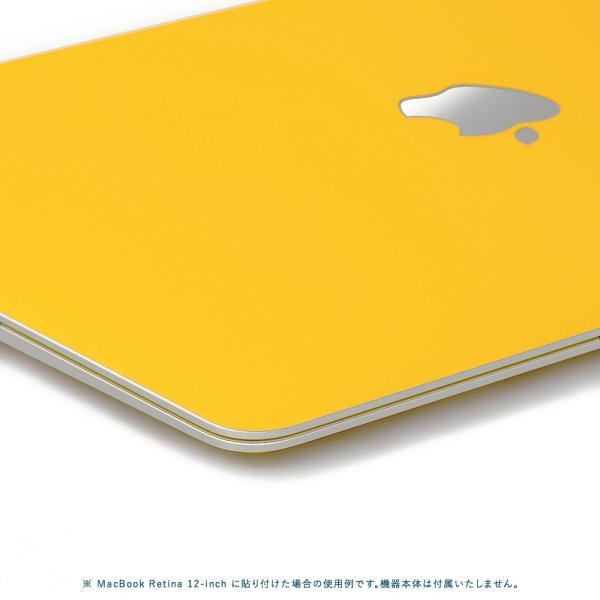 Macbook Pro 13インチ スキンシール ケース カバー フィルム 2016 Retina 対応 wraplus 選べる31色 イエロー 黄色|wraplus|04