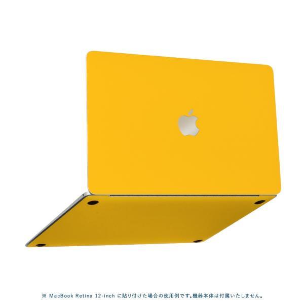 Macbook Pro 13インチ スキンシール ケース カバー フィルム 2016 Retina 対応 wraplus 選べる31色 イエロー 黄色|wraplus|05