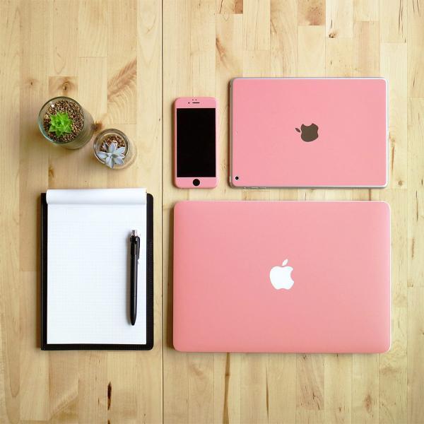 Macbook Pro 13インチ スキンシール ケース カバー フィルム 2017 2016 Retina 対応 wraplus 選べる31色 サーモンピンク|wraplus|02