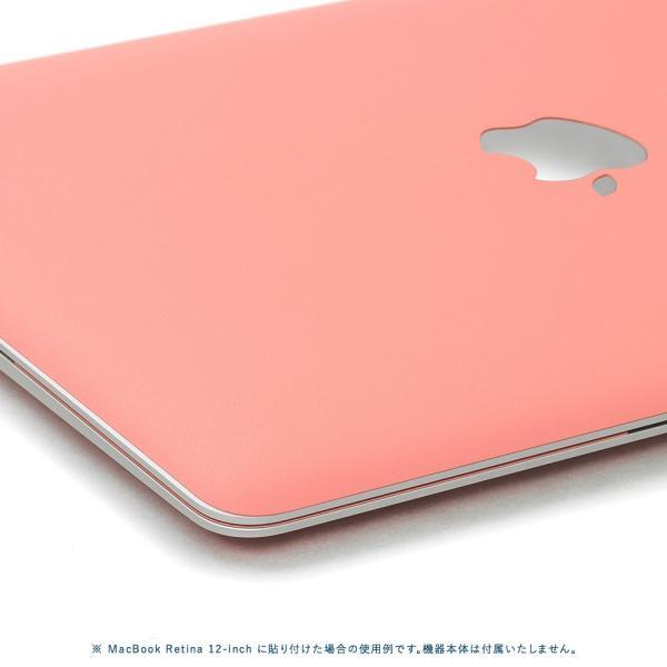 Macbook Pro 13インチ スキンシール ケース カバー フィルム 2017 2016 Retina 対応 wraplus 選べる31色 サーモンピンク|wraplus|04
