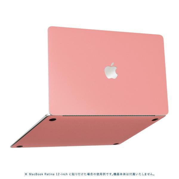 Macbook Pro 13インチ スキンシール ケース カバー フィルム 2017 2016 Retina 対応 wraplus 選べる31色 サーモンピンク|wraplus|05