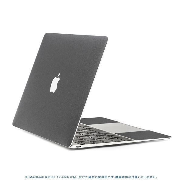 Macbook Pro 13インチ スキンシール ケース カバー フィルム 2018 2017 Retina 対応 wraplus 選べる31色 ガンメタリック|wraplus|03